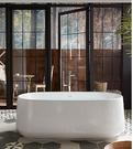 【麗室衛浴】美國 KOHLER Ceric 綺美石人造石椭圆形浴缸 K-8336T-0  1651x790x586mm