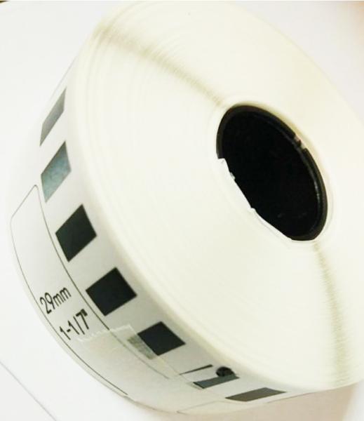 DK-22210 副廠連續標籤帶 (白底黑字) 29mm*30.48M 塑芯 DK22210 不含支架 QL500/QL-570/QL570VM