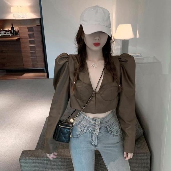 限時特銷 潮流女裝店港味設計感時尚洋氣西裝短款外套優質年新款韓版潮