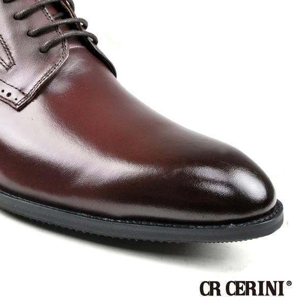 【CR CERINI】時尚真皮德比紳士鞋  酒紅(83469-WIN)