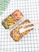 小麥秸稈飯盒便當盒學生食堂簡約微波爐健身可愛保溫餐盒分格日式〖滿千折百〗