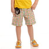 【愛的世界】純棉鬆緊帶黑熊格紋短褲/6歲-台灣製- ★春夏下著 outlet零碼