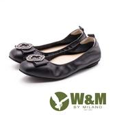 W&M古典扣飾娃娃鞋 女鞋 - 黑(另有藍)