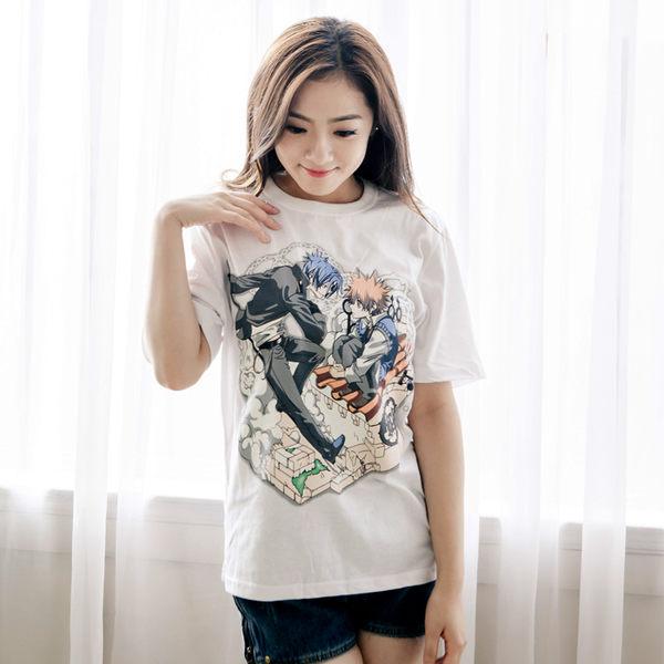 潮流俏皮卡通寬鬆純棉 T-恤    ( 五款售)