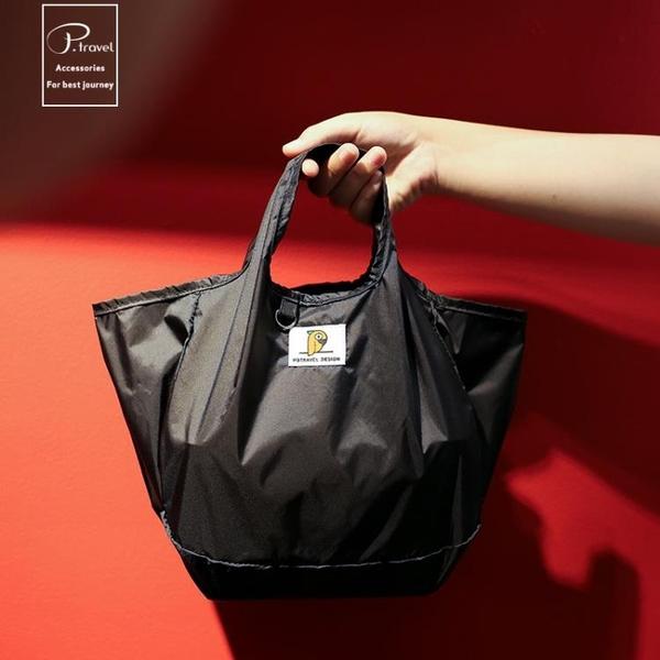 日本同款飯盒袋子保溫袋上班族簡約手提防水日式時尚鋁箔便當包 夢幻小鎮
