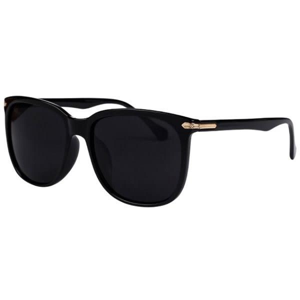 OT SHOP太陽眼鏡‧抗UV400方形框顯瘦大框太陽眼鏡雕刻金屬亮黑透明框白反光藍綠反光‧J07