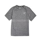 Nike 短袖T恤 Heather Hydroguard 灰 白 男款 短T 防曬衣 運動休閒 【ACS】 NESSA589-001