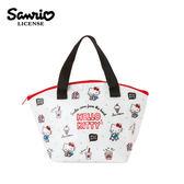 【日本正版】凱蒂貓 防潑水 保冷袋 手提袋 便當袋 Hello Kitty 三麗鷗 Sanrio - 885185