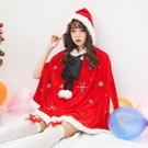 【愛愛雲端】角色扮演 聖誕服 甜美斗篷披風球球綁帶聖誕服 R8X0019