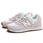 NEW BALANCE 休閒鞋 574 復古 粉紫 米白 麂皮 女 (布魯克林) WL574SAX