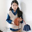 男童襯衫 女童襯衫 基本款修身短版外搭牛仔襯衫 韓國外貿中大童 QB allshine