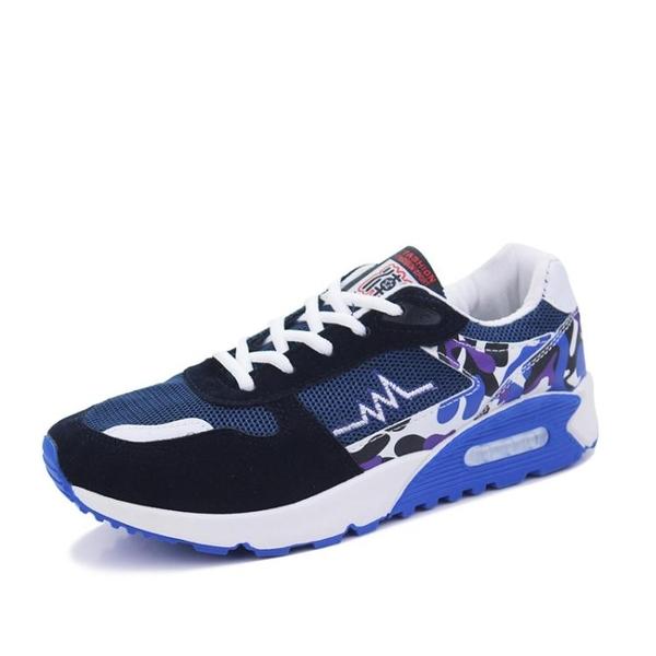 運動鞋男鞋氣墊運動鞋秋季男士休閒鞋透氣跑步鞋韓版潮流板鞋新款旅游鞋 雲朵走走