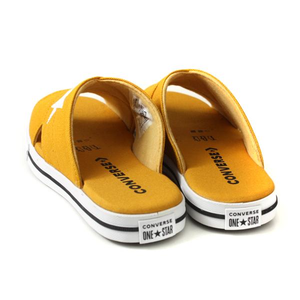 CONVERSE One Star Slide 拖鞋 帆布 交叉拖 黃色 女鞋 565529C no310