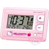 ♥小花花日本精品♥Hello Kitty凱蒂貓蘋果圖案粉色電子鐘液晶計時器家用計時器數字時鐘 10901106