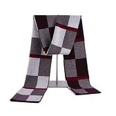 羊毛圍巾-格子提花針織休閒男披肩73wh60【時尚巴黎】