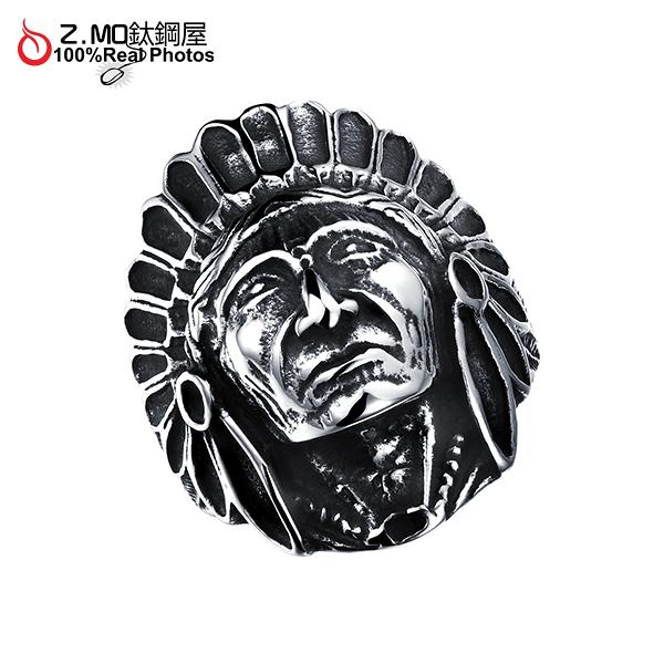 [Z-MO鈦鋼屋]316L鈦鋼戒指/印地安人戒指/時尚百搭/酷派時尚/整體造型搭配推薦/單個價【BKS484】