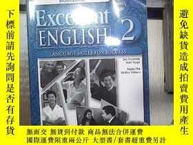 二手書博民逛書店EXCELLENT罕見ENGLISH 2 WORKBOOK 優秀英語2練習冊 附光盤(06)Y180897 不