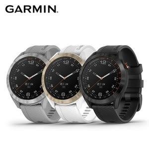 GARMIN Approach S40 高爾夫 GPS 腕錶黑色白鋼錶圈