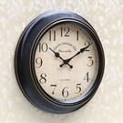 歐式復古客廳靜音家用掛鐘創意時尚石英鐘美式個性簡約免打孔掛表