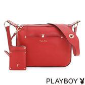 PLAYBOY- 斜背包 Grace Poppy系列-罌粟紅