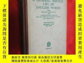 二手書博民逛書店A罕見GENERAL SERVICE LIST OF ENGLISH WORDS(英語基礎2000詞表) (大32