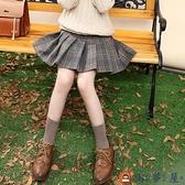 女童半身裙百褶裙兒童大童毛呢格子短裙裙子秋冬【淘夢屋】