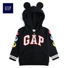 Gap x Disney迪士尼男嬰幼童系列舒適連帽長袖外套 489459-正黑色