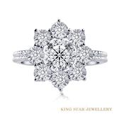 30分鑽石18K金綽約戒指(限量款) King Star海辰國際珠寶 婚戒首選 情人節禮物必備