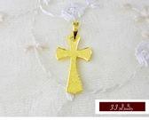 9999純金 黃金 十字架  墜飾 墜子 送精緻皮繩項鍊