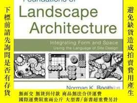 二手書博民逛書店Foundations罕見of Landscape Architecture: Integrating Form