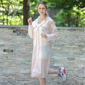 歐美時尚徒步雨衣成人男女戶外旅游長款雨衣單人防水半透明雨披女
