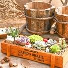 CARMO長方形木製多肉花盆木盒/收納盒【E02001】