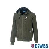 K-SWISS Solid Windbreaker 1風衣外套-男-深綠