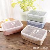 小麥秸稈便當盒分格冰箱食品保鮮盒長方形微波爐學生餐盒成人飯盒 「潔思米」