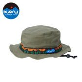 【日本限定款】西雅圖 KAVU Strap Bucket Hat 民族編織漁夫帽 橄欖幾何 #123