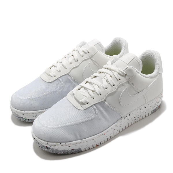 Nike 休閒鞋 Air Force 1 Crater 白 灰 男鞋 AF1 回收再生材質融入 運動鞋 【ACS】 CZ1524-100