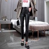 黑色打底褲女冬加絨褲外穿保暖皮褲子加厚緊身小腳鉛筆褲2019新款