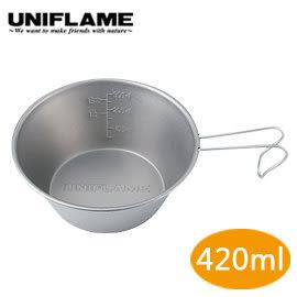 丹大戶外用品 日本【UNIFLAME】U668641 鈦提耳碗 420ml 個人碗/登山碗/戶外碗/防燙碗/露營外出