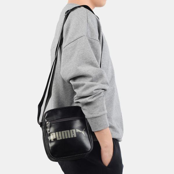 PUMA】ORIGINALS小側背包 斜背包 肩背包 黑白 NO.07501601