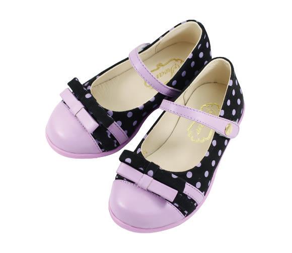 Swan天鵝童鞋-圓點低跟娃娃鞋 3708-紫