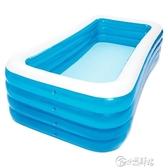 充氣兒童游泳池寶寶嬰兒游泳桶家用摺疊小孩洗澡池家庭戲水池加厚 小城驛站