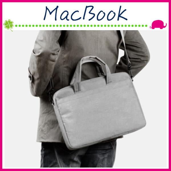 Apple MacBook 13吋 大容量電腦包 可拆卸肩帶保護套 西裝面料筆電包 多隔層內膽包 防潑水包包