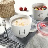 韓匠|大號陶瓷碗拉面日式餐具帶蓋勺筷