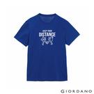 【GIORDANO】男裝Distance印花T恤 - 08 衝浪藍