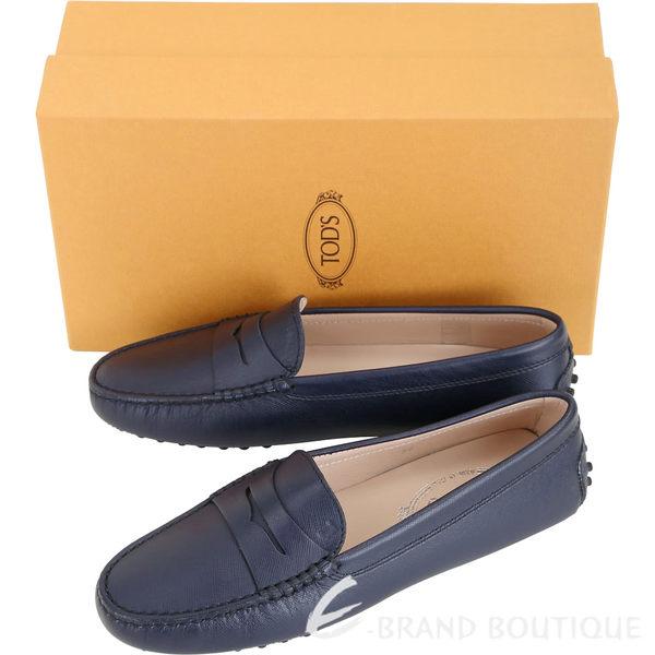 TOD'S Gommino 防刮牛皮豆豆休閒鞋(女鞋/深藍色) 1840020-34