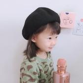 兒童貝雷帽女秋季英倫韓版百搭日系羊毛呢冬天網紅畫家蓓蕾帽子潮