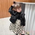 女童秋裝韓版皮衣外套機車夾克上衣【聚可愛】