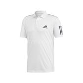 adidas 短袖T恤 3-Stripes Club Polo 白 黑 男款 Polo衫 直筒設計 【PUMP306】 DU0849