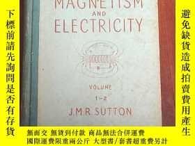 二手書博民逛書店technical罕見college series magnetism and electricity(P3257