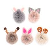 兒童髮飾卡通兔子耳朵毛毛髮圈頭飾-321babyroom